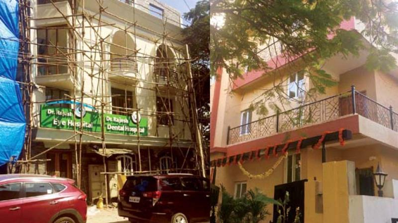 Oramangala may be unrecognisable in recent years with commercial units springing up in several of its residential localities, but the  BBMP seemed to suddenly wake up to the fact on Monday with officials of its south zone sealing eight such establishments in the area.