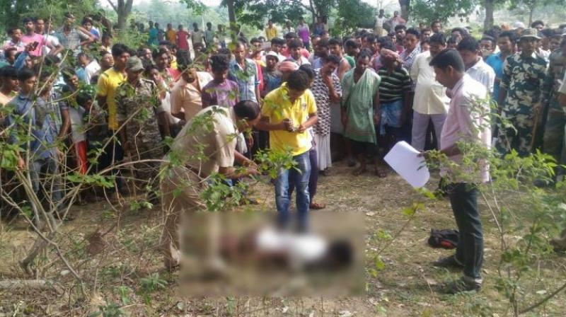 The body was found in Balarampur village in the morning and the police were informed about it by the locals, and no arrests have been made in connection with the incident. (Photo: ANI | Twitter)