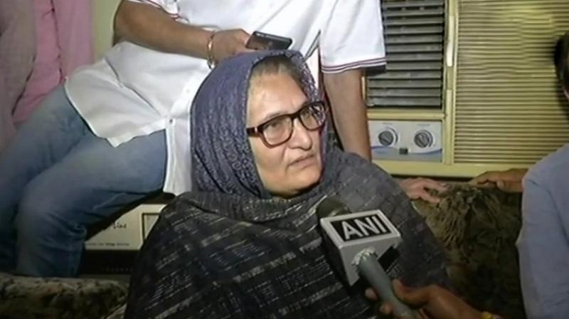 47-year-old Tabassum Hasam represented the hopes of the opposition for defeating the BJP in another Uttar Pradesh bypoll this year. (Photo: ANI | Twitter)