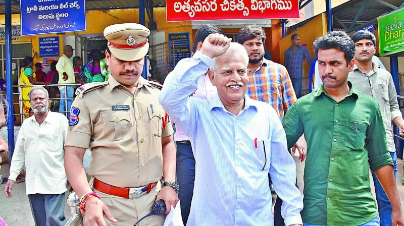 Activist Varavara Rao barred from media interaction, brought to Hyderabad