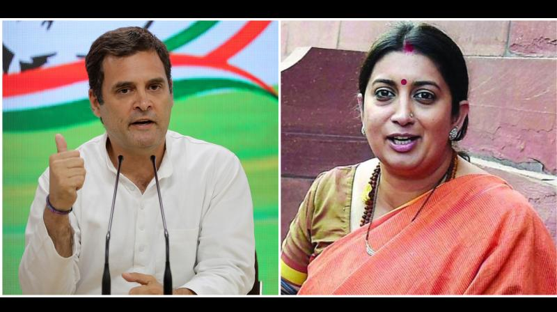 Rahul Gandhi, his party's chief campaigner across India, was accused by the BJP of neglecting his own constituency, while Smriti Irani has been strongly campaigning in that constituency. (Photo: AP | File)