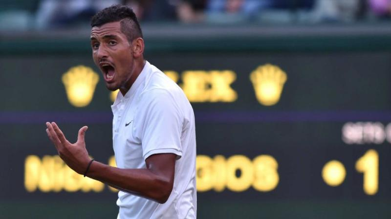 Tour organisers opened an investigation into Nick Kyrgios following an explosive meltdown at last month's Cincinnati Masters which saw him smash two racquets, launch an abusive tirade at the chair umpire before appearing to spit at the official during a second-round match. (Photo: AFP)