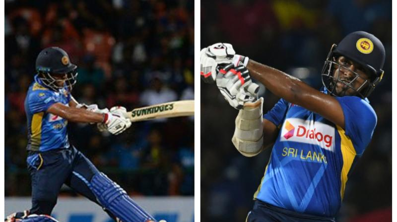Sri Lanka suffered a double blow as Kusal Mendis and Shehan Jayasuriya are uncertain to play in the third T20I as both suffered leg injuries. (Photo:AFP)