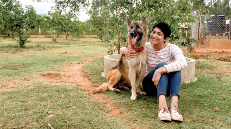 Ace shuttler Ashwini Ponnappa, an avid supporter of the campaign has been vocal about the cause on social media. Here she poses with a pooch at the VOSD Sanctuary.