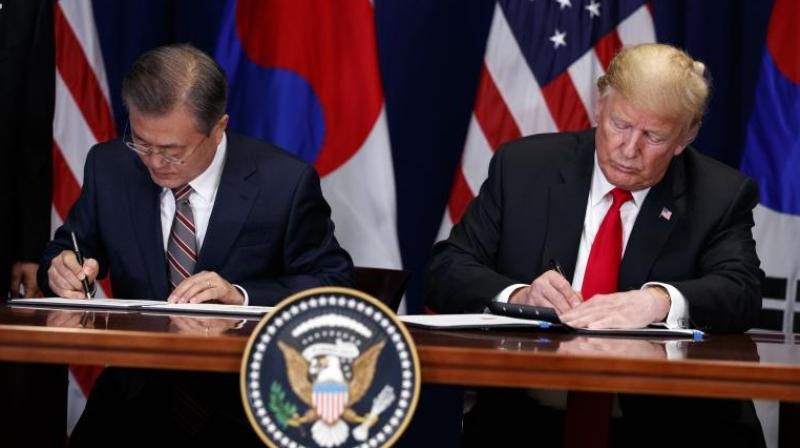 Historic Milestone Trump Govt Inks First Trade Deal With South Korea