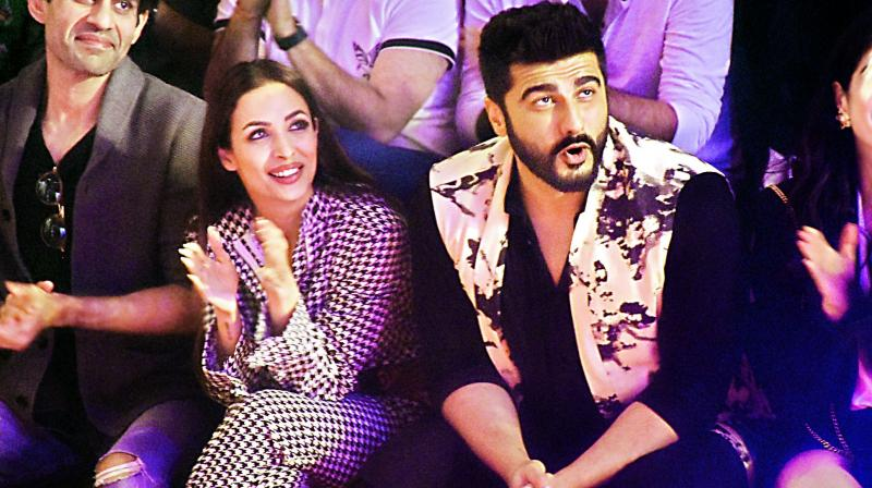 Malaika Arora and Arjun Kapoor at this year's Lakme Fashion Week.