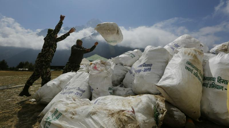 Nepal picks 11 tonnes of garbage in Everest clean-up