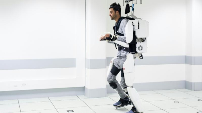 Grenoble study is the first to use brain signals to control a robot exoskeleton. (Photo: AFP)