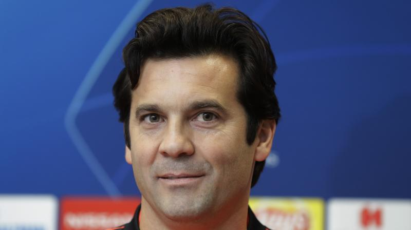 Solari, who spent five years playing for Real, was promoted from his role in charge of Castilla, the club's B team, after Lopetegui had overseen a miserable run that included just one victory in seven games. (Photo: AP)