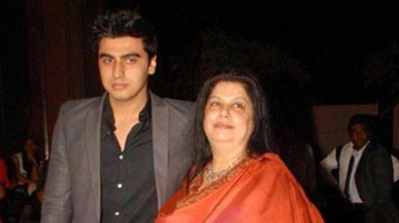 Picture that Arjun Kapoor shared of his mother Mona Kapoor in his Instagram post.