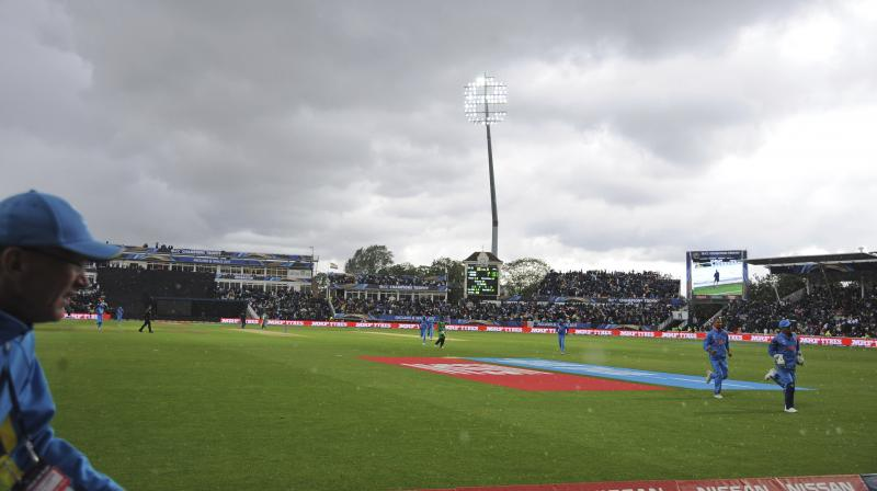 With no day kept in reserve for the semifinal, all attention will turn to the skies ahead of the India-Bnagladesh encounter. (Photo: AP)