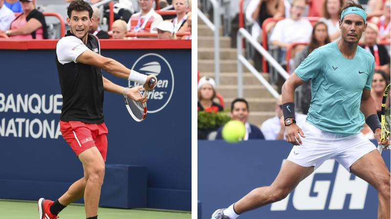 Nadal is seeking his third title of the season and now stands 38-6 in 2019. Austrian second seed Thiem, who claimed a clay title at the weekend at home in Kitzbuehel before crossing the Atlantic, won his first match in Canada after five losses, defeating home hero Denis Shapovalov 6-4, 3-6, 6-3. (Photo:AFP)
