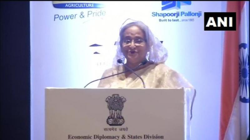 Further talking to enhancing trade and investments between the two countries, she said huge potential exists in Bangladesh for Indian business community in different sectors. (Photo: ANI)