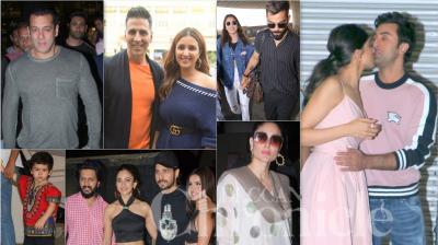 Bollywood celebrities like Akshay Kumar, Ranbir Kapoor, Deepika Padukone, Alia Bhatt, Sidharth Malhotra, Salman Khan, Kareena Kapoor Khan and others were spotted in metro cities like Mumbai and Delhi. (Photos: Viral Bhayani)