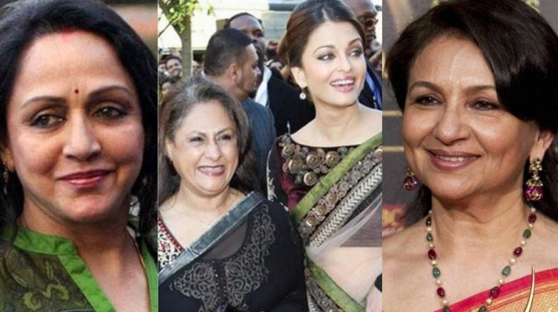 Hema Malini, Jaya Bachchan, Aishwarya Rai Bachchan and Sharmila Tagore.