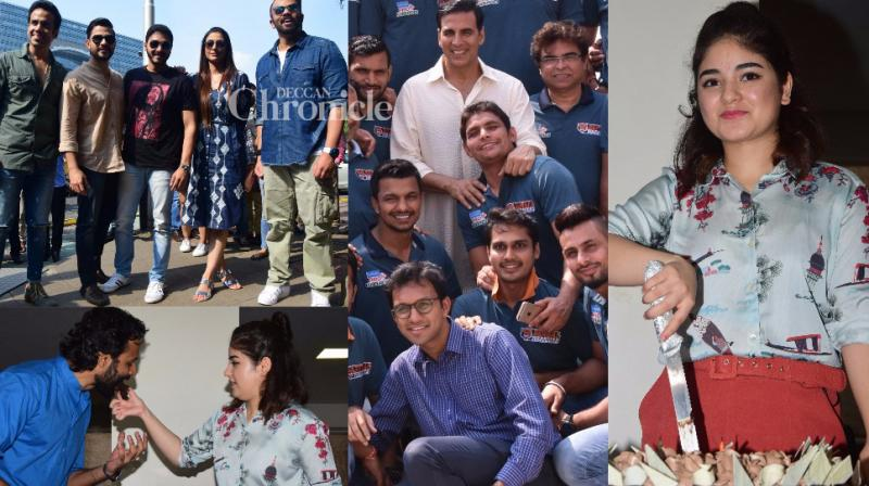 Bollywood stars like Akshay Kumar and others stepped out to celebrate important occasions concerning them in Mumbai on Monday. (Photo: Viral Bhayani)