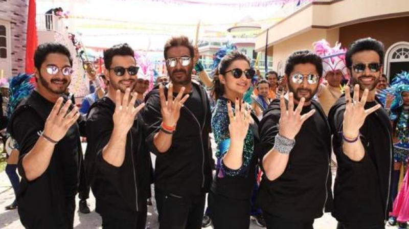 Ajay will definitely grow richer every five or seven years, as according to our sources, he has not charged a fee, but taken away the satellite rights of the film Golmaal Again.