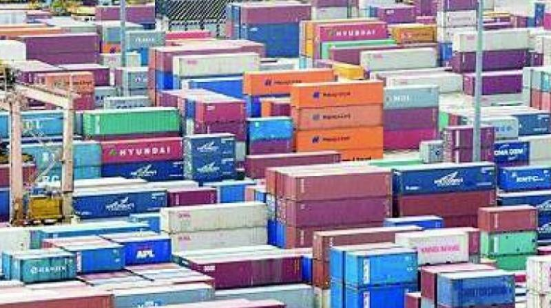 India's exports grew by 8.85 per cent to USD 298.47 billion during April-February 2018-19.