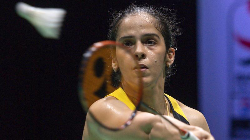 In the third game, the world number 12 Mia did not give any chance to Nehwal to come back as she clinched the game 21-12 to win the one hour and 12 minutes long encounter. (Photo: AP)