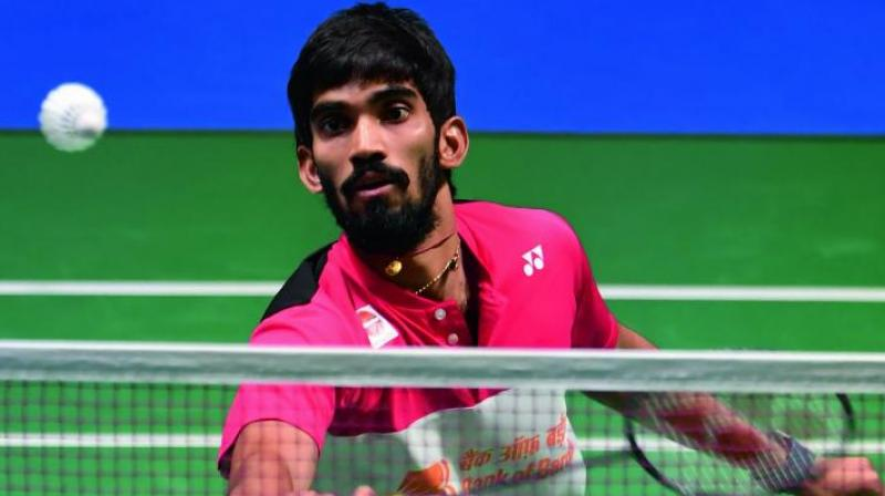 In the other men's singles encounter, Srikanth faced defeat at the hands of Thailand's Kantaphon Wangcharoen in the two straight games 21-14, 21-13. (Photo: AFP)
