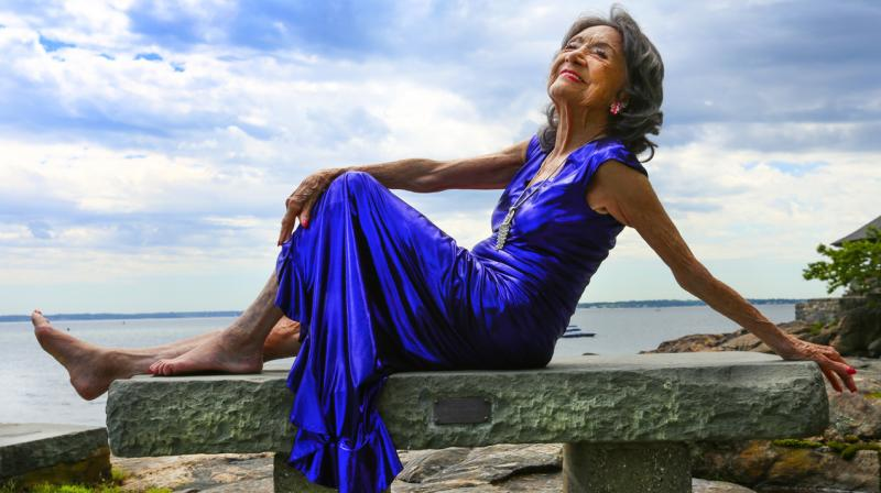 What's her secret of being so fit and active at her age? She says the key to a long life is positive thinking.   (Photo: Robert Sturman)