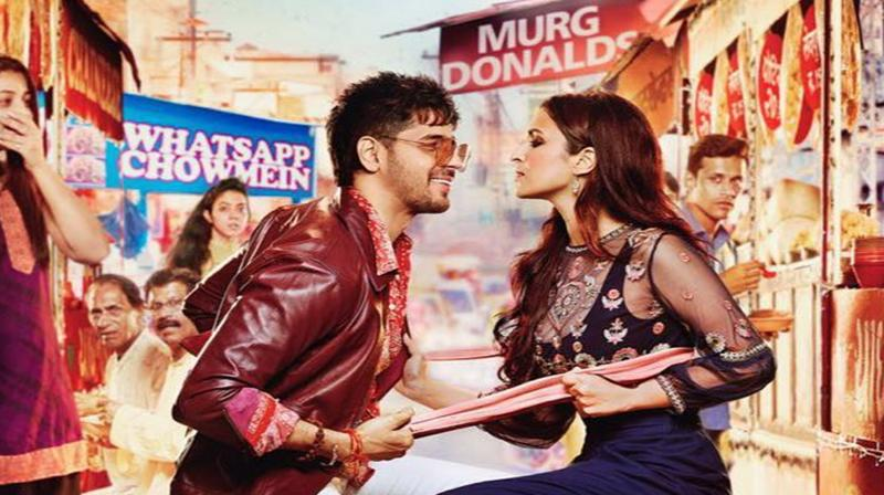 Jabariya Jodi poster featuring Sidharth Malhotra and Parineeti Chopra. (Photo: Instagram)
