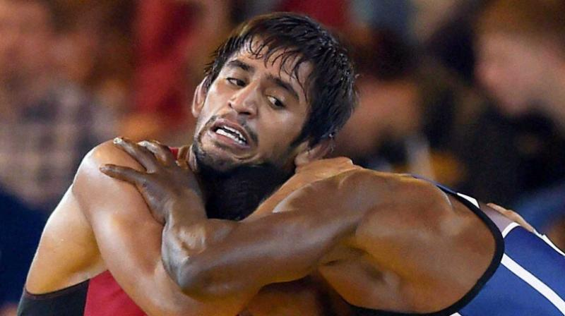 Bajrang Punia, the 2016 Commonwealth Wrestling Championship gold medallist was acquired by Delhi Sultans for Rs 38. lakhs. (Photo: PTI)
