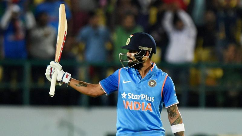 If debutant all-rounder Hardik Pandya (3/31) stole the limelight in the bowling department, it was another flawless effort from 'chase master' Kohli, whose 85-run knock came off 81 balls. (Photo: PTI)