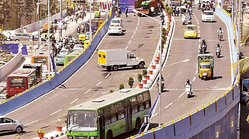 The three-metre wide median has been provided in MAR to facilitate Metro connectivity to the Nadaprabhu Kempegowda Layout in future. (Representational Image)