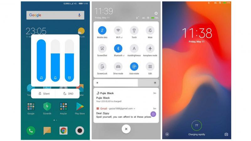 Miui 10 ui leaked android p style notification shade bars and more the new miui build showcases a new notification shade with round toggles that turn blue when stopboris Images