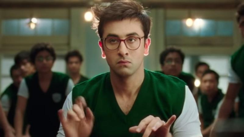 Ranbir Kapoor in a still from the 'Aflatoon' promo of 'Jagga Jasoos' which highlights the qualities of Ranbir Kapoor (Jagga).