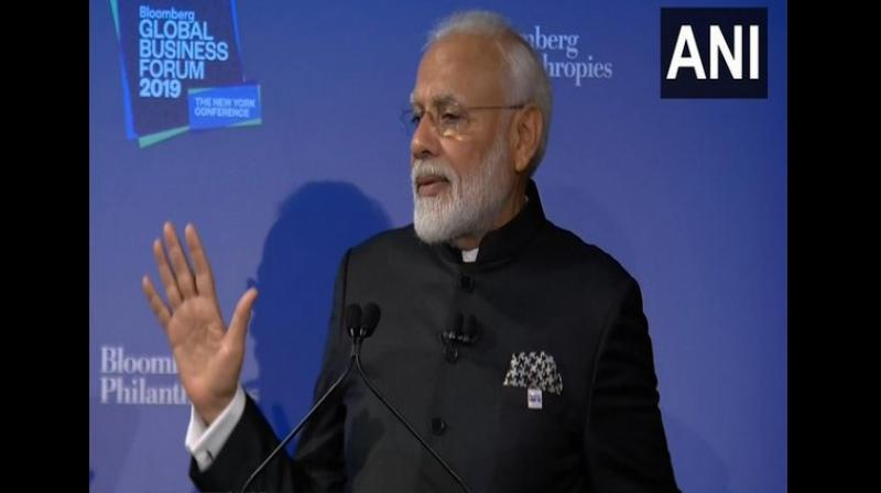 """""""We have the challenge of nuclear energy because we are not a member of NSG (Nuclear Suppliers Group), so we face the issue of supply of fuel. If we get a solution on that front, then we can come out as a model and work in this sector,"""" Modi said. (Photo: ANI)"""