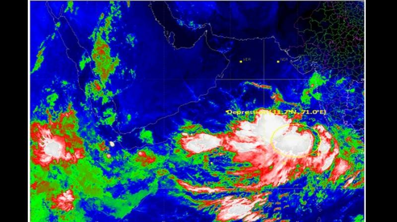 'It is very likely to intensify further into a deep depression during the next 12 hours and into a cyclonic Storm during the subsequent 24 hours. It is likely to move north-northwestwards during next 72 hours,' IMD said. (Photo: ANI)
