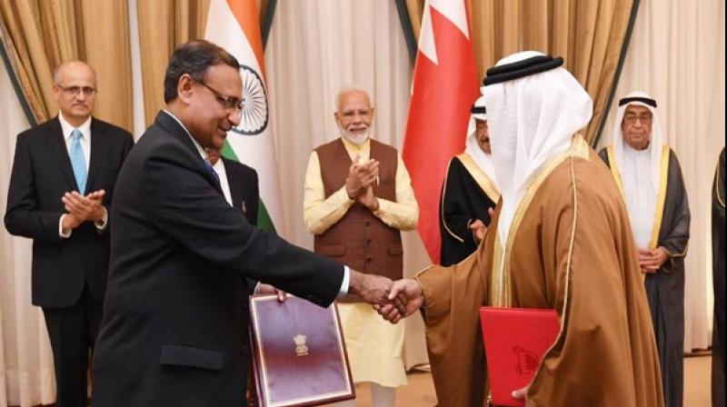 India and Bahrain reaffirmed their condemnation of terrorism in all its forms and manifestations, regardless of the identity of the perpetrators and their motives, and noted the need for concerted action by the international community against terrorism, including the comprehensive sanctioning of terrorists and their organizations by the UN. (Photo: ANI)