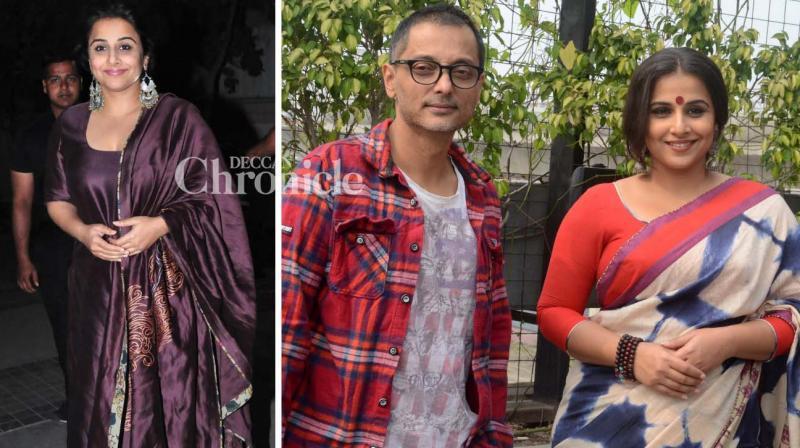 Vidya Balan was seen promoting her film 'Kahaani 2: Durga Rani Singh' in the cities of Kolkata, Hyderabad and Mumbai on Wednesday. (Photo: Viral Bhayani)