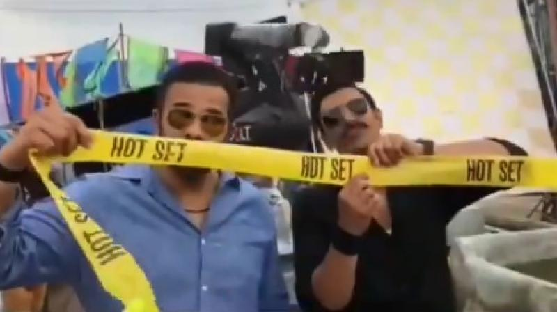 Screengrab of the video featuring Rohit Shetty and Ranveer Singh.