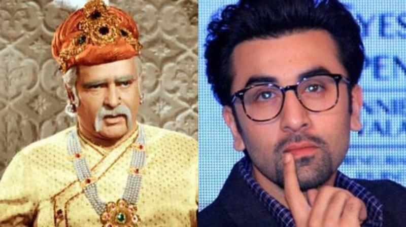 Prithviraj Kapoor and Ranbir Kapoor.