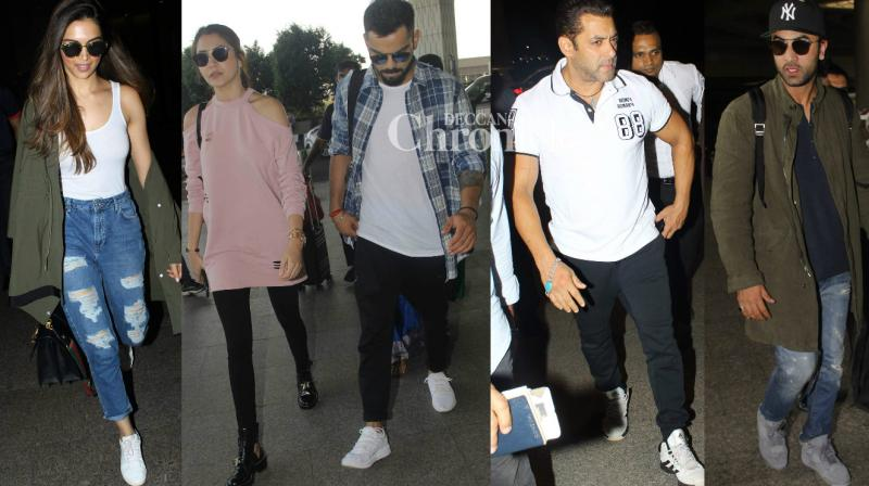 Shutterbugs had a busy day as they spotted Bollywood celebrities at various locations on Wednesday. (Photo: Viral Bhayani)