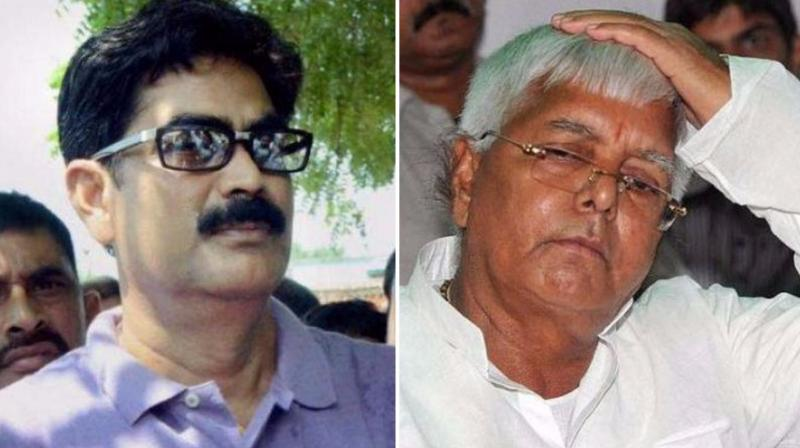 Jailed mafia don Mohammad Shahabuddin and RJD chief Lalu Prasad Yadav. (Photos: PTI)