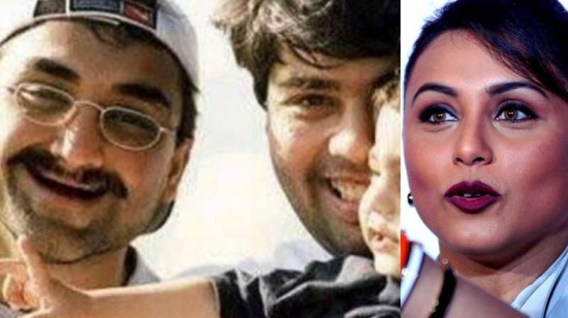 Aditya Chopra, Karan Johar and Rani Mukerji.