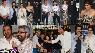 Bollywood celebrities were snapped at two major events in Mumbai on Tuesday and other celebrities were also spotted at other locations. (Photo: Viral Bhayani)