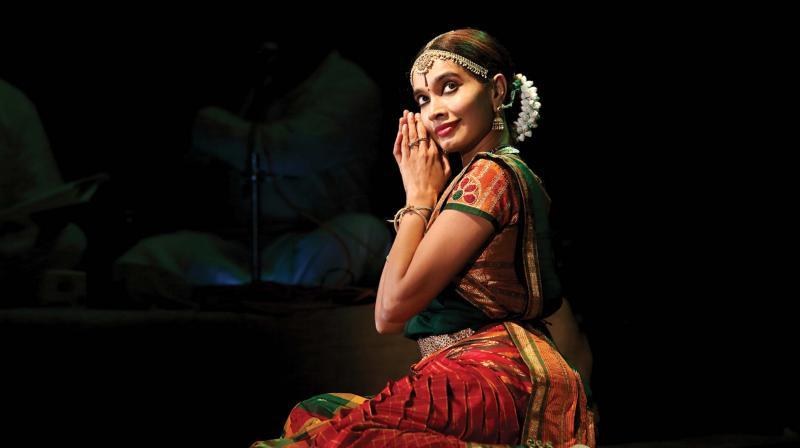 Meenakshi Srinivasan during a performance.