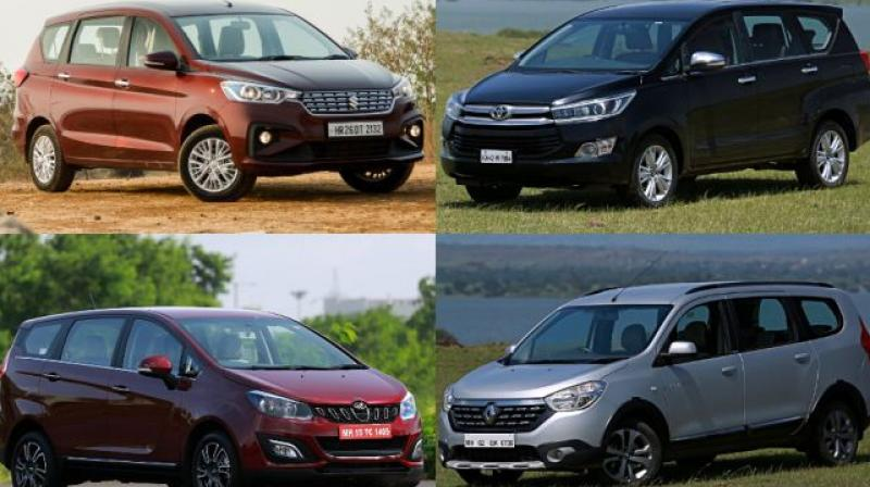 The MPV space is not the most popular in the country in terms of volume as there are just 4 options to choose from.