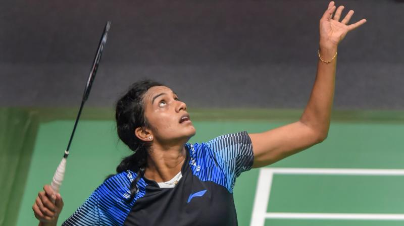 Making her third successive appearance at the tournament, Sindhu, who had a 9-4 head-to-head record against Yamaguchi, produced a controlled game in the slow conditions, never letting go despite lagging behind many times in the match. (Photo: PTI)