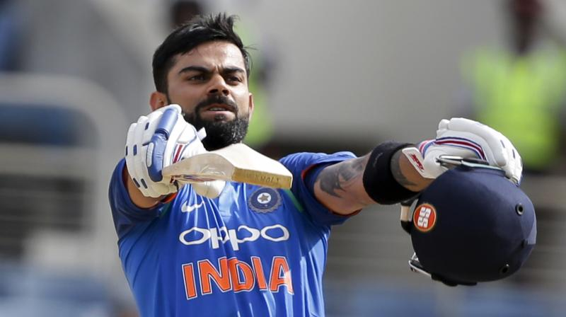 Virat Kohli, who scored 18th ODI ton in run-chase, surpassed Sachin Tendulkar in the list of cricketers with most ODI hundreds in run-chase. (Photo: AP)
