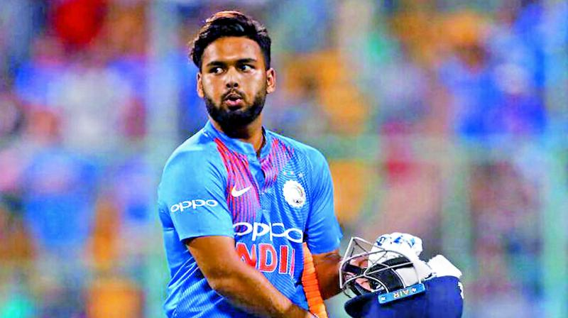 Pant hit an attractive half-century in the third and final T20 International but some of his dismissals after getting set have left a lot to be desired. (Photo: File)