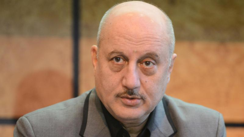 Anupam Kher at an event.
