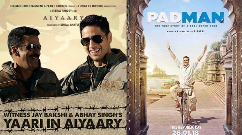 Aiyaary postponed to 16 February, Pad Man to get solo release