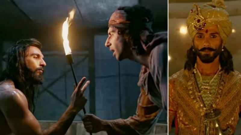 Some stills from the movie 'Padmaavat'.
