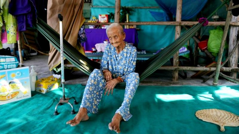 Pham Thi Ca, 99, was offered money to move from her home in Vietnam as authorities hoovered up land for a planned USD 2.6 billion Japanese-funded coal plant. (Photo: AFP)